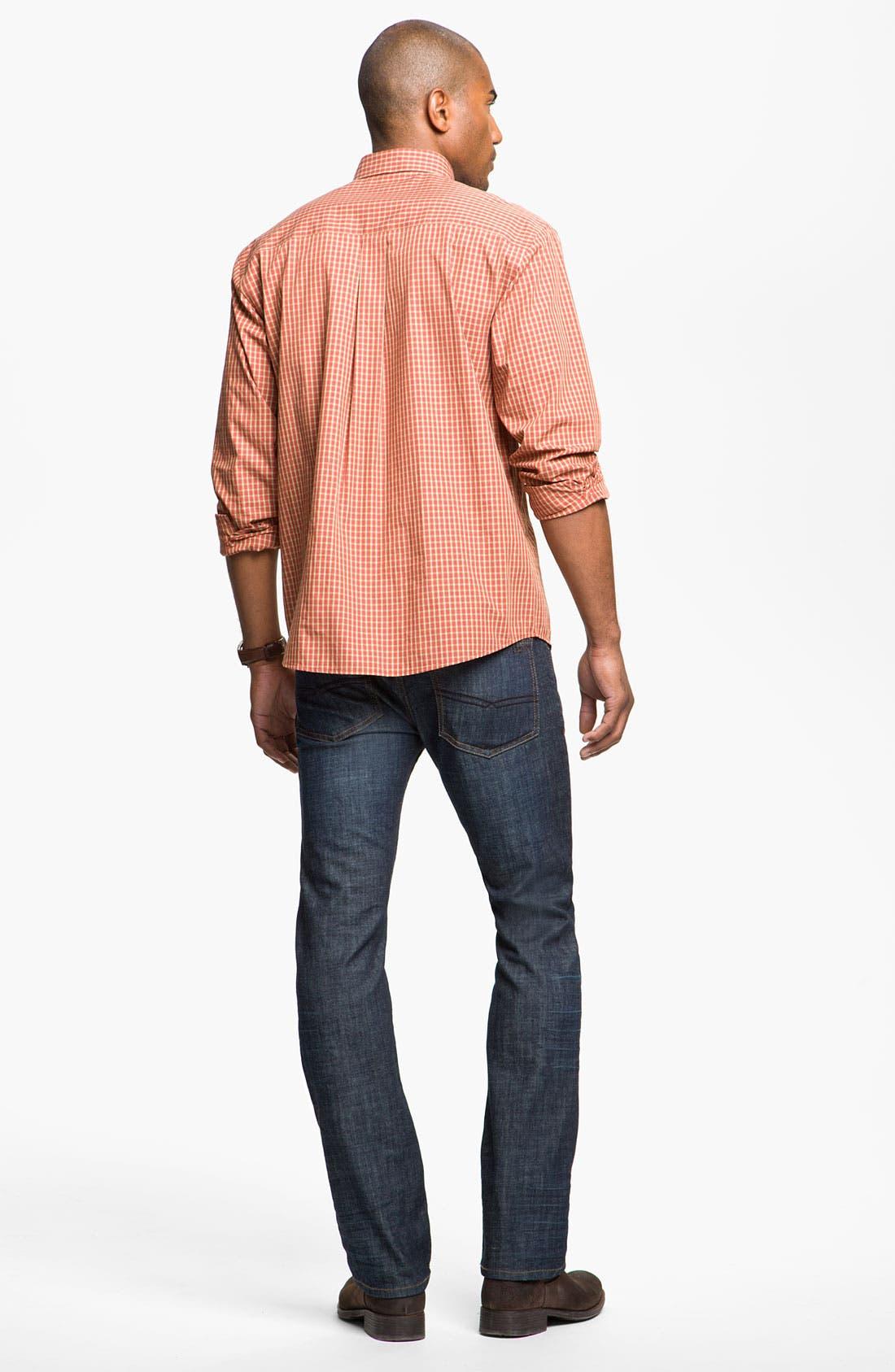 Alternate Image 5  - Cutter & Buck 'Spruce' Check Sport Shirt (Big & Tall)