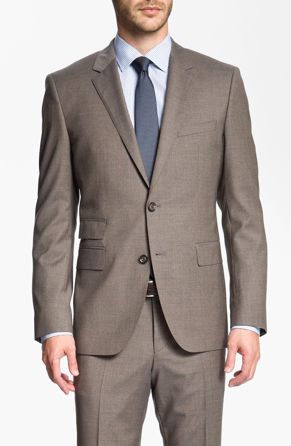 Alternate Image 1 Selected - BOSS Black 'Sweet/Sharp' Trim Fit Suit