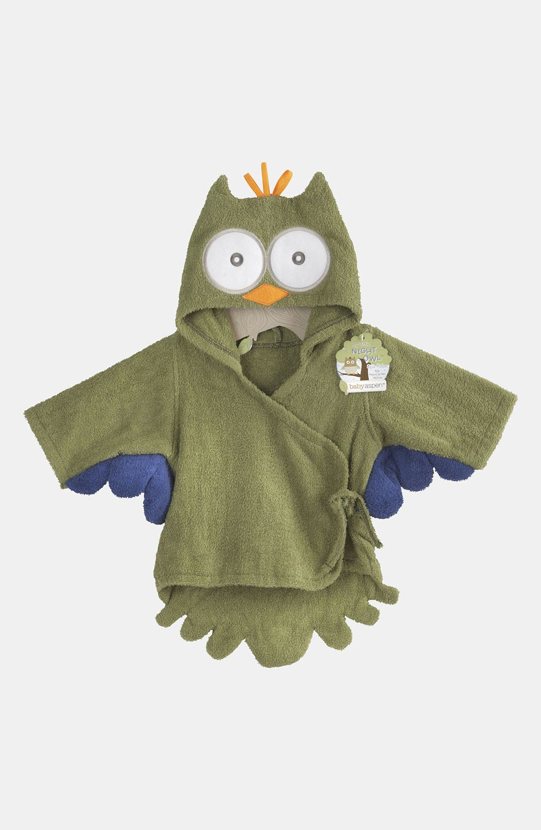 Main Image - Baby Aspen 'My Little Night Owl' Terry Cloth Robe (Infant)