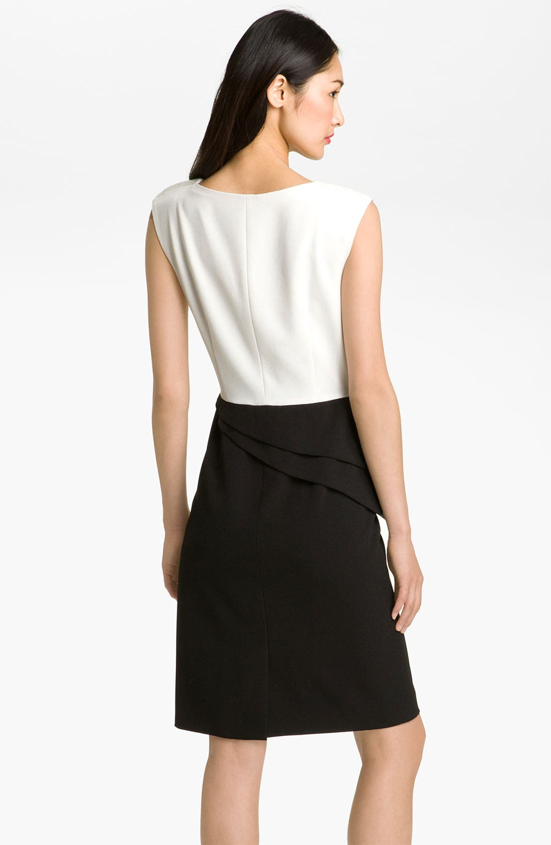Alternate Image 2  - Adrianna Papell Asymmetrical Peplum Dress