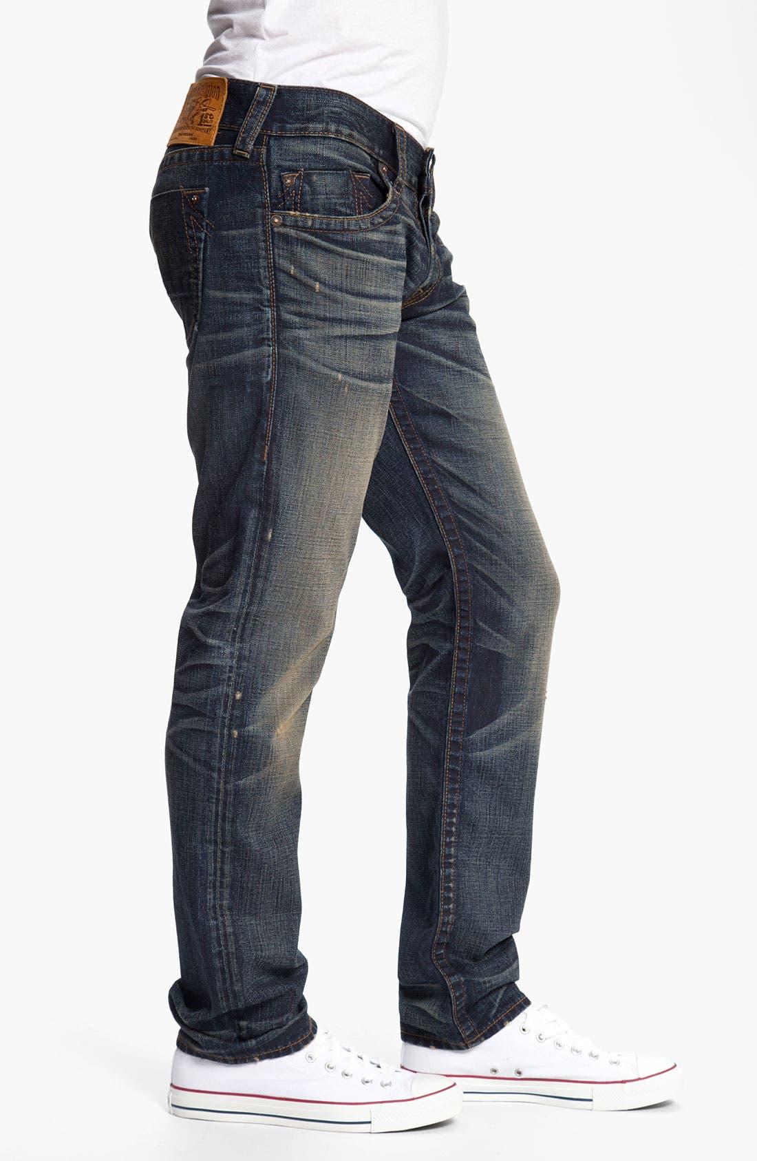 Alternate Image 3  - True Religion Brand Jeans 'Geno' Slim Straight Leg Jeans (Snyper)