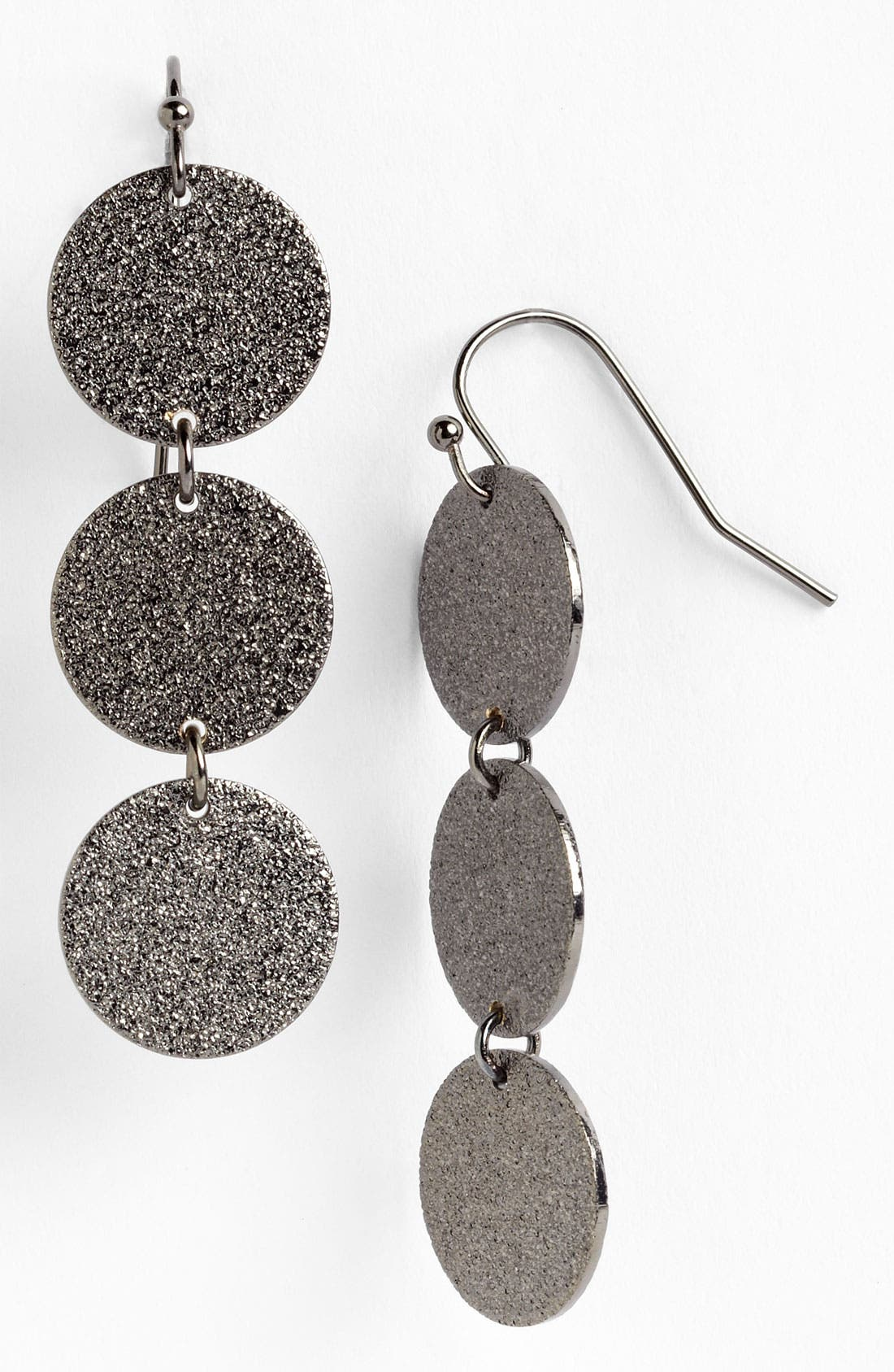 Main Image - Nordstrom Textured Disc Linear Earrings
