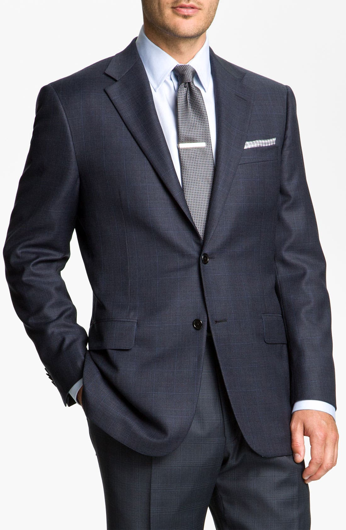 Main Image - Hickey Freeman Windowpane Suit