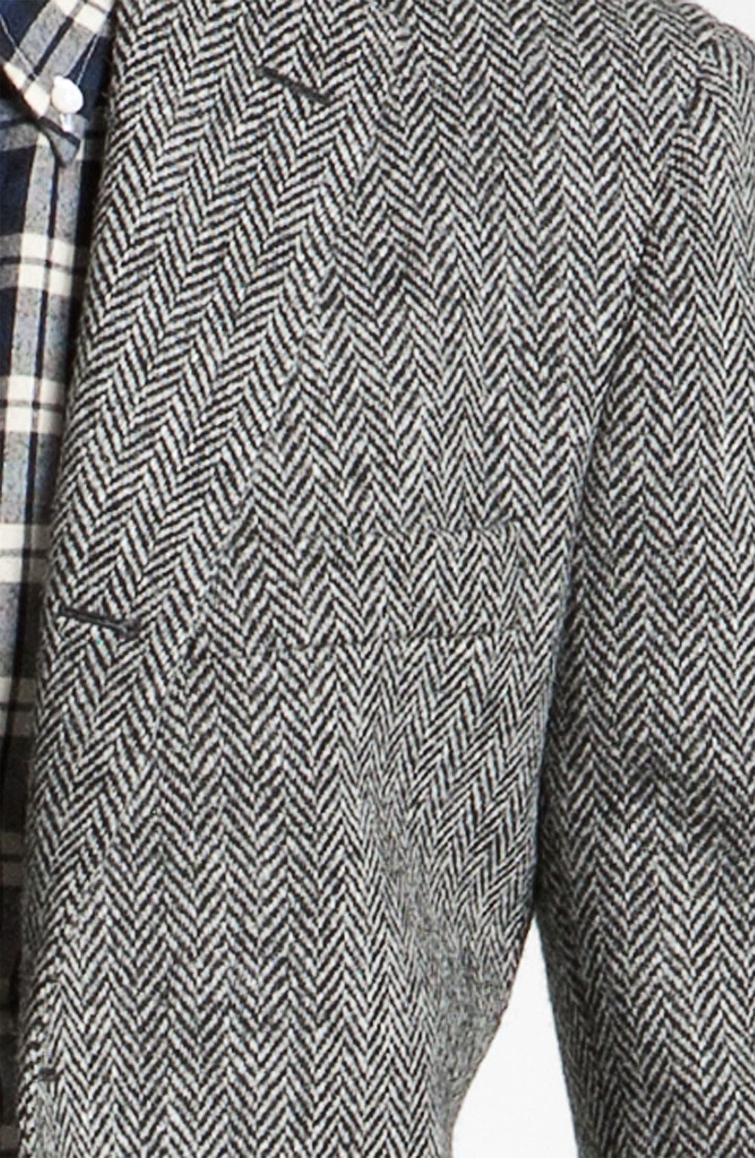 Alternate Image 3  - Brooks Brothers by Jeffrey Tweed Herringbone Blazer