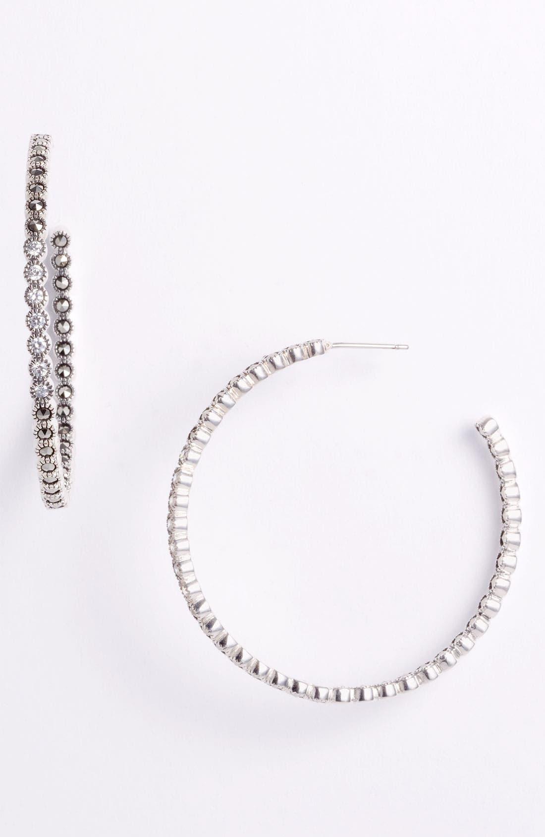 Main Image - Judith Jack 'Starlight' Inside Out Hoop Earrings
