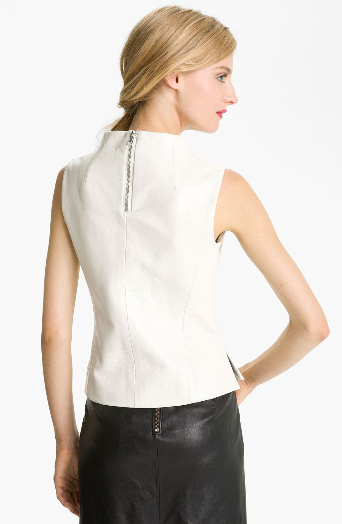 Alternate Image 2  - Milly Seamed Leather Shell