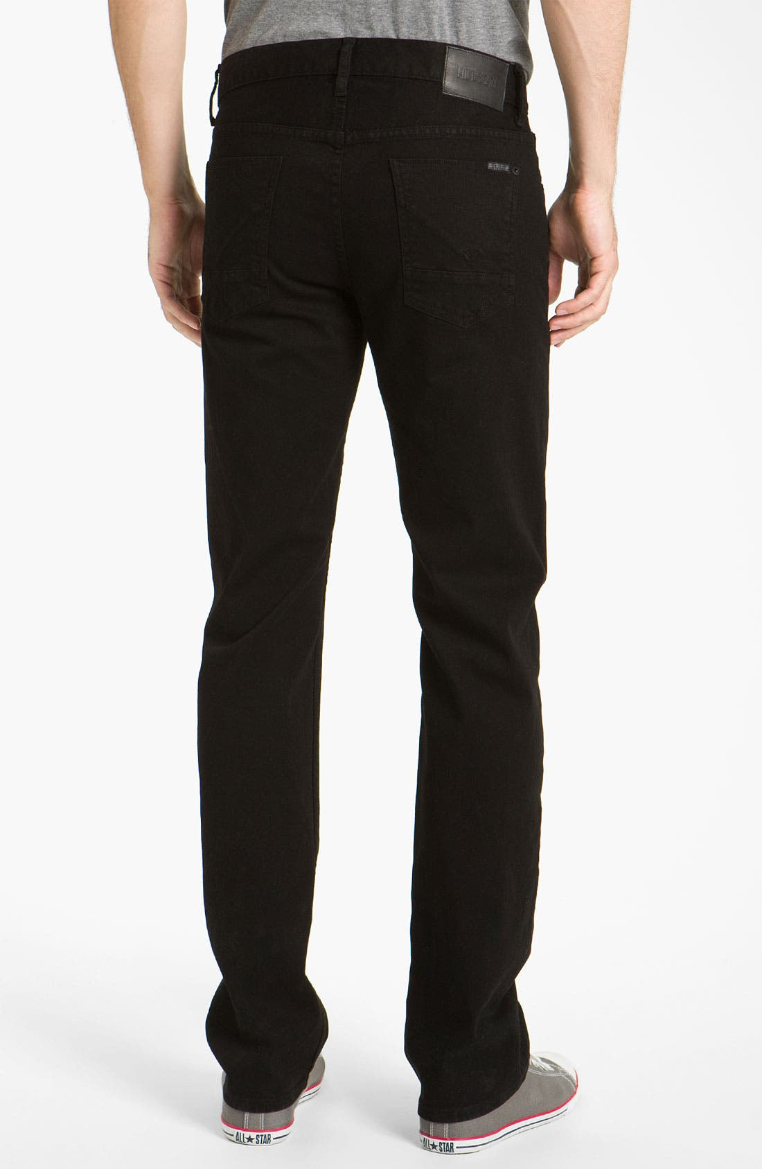 Alternate Image 1 Selected - Hudson Jeans 'Buckley Athletic' Straight Leg Jeans (Jet Black)