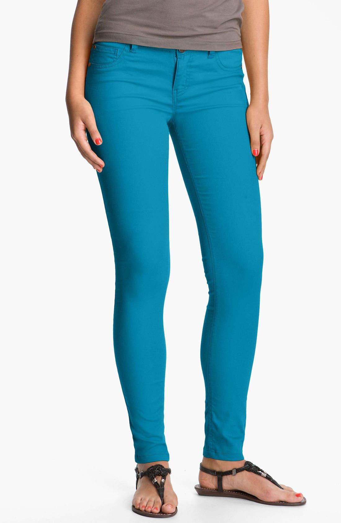 Alternate Image 2  - Fire Skinny Jeans (Juniors) (Online Exclusive)