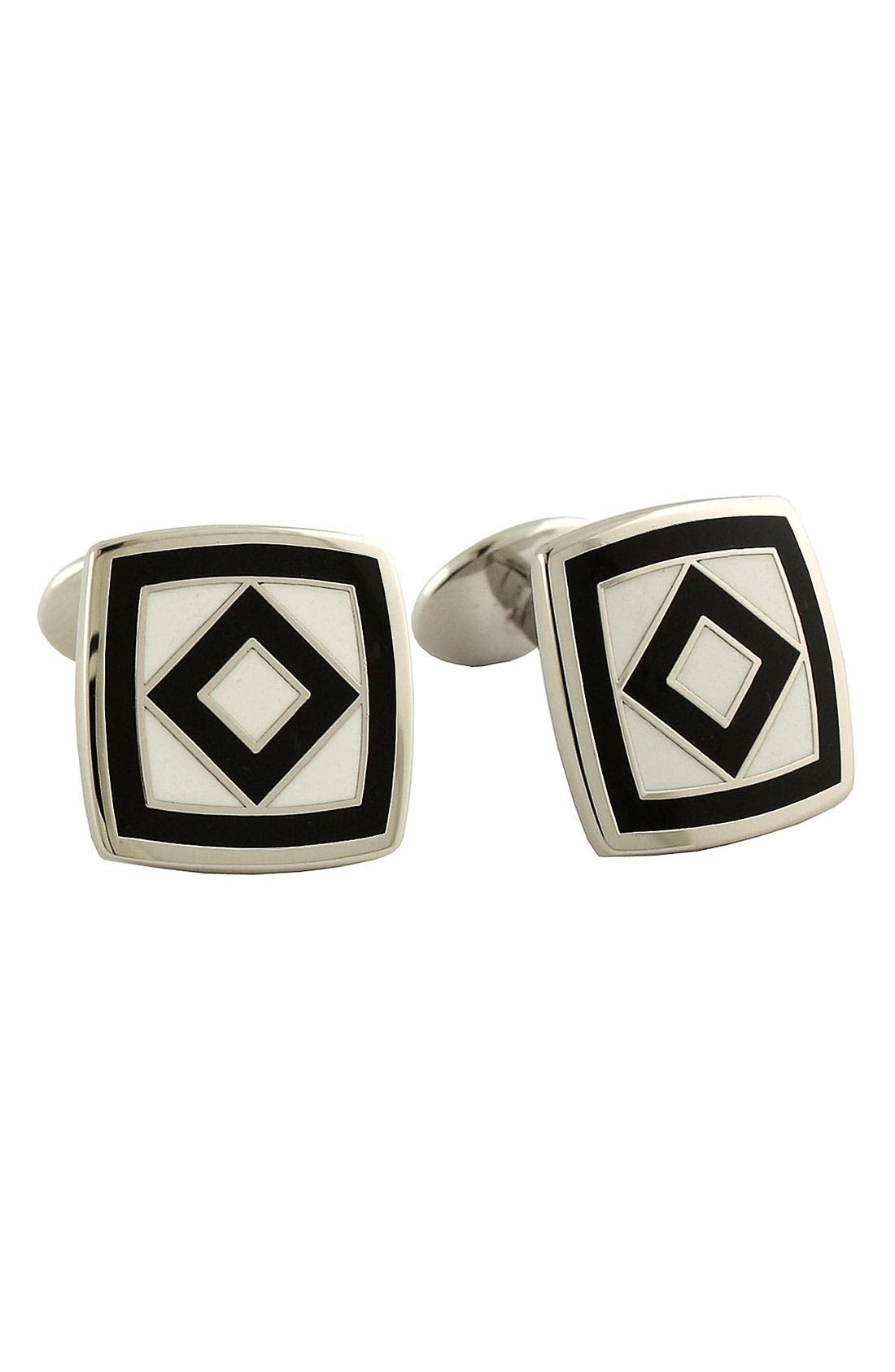 Main Image - David Donahue 'Diamond Square' Cuff Links