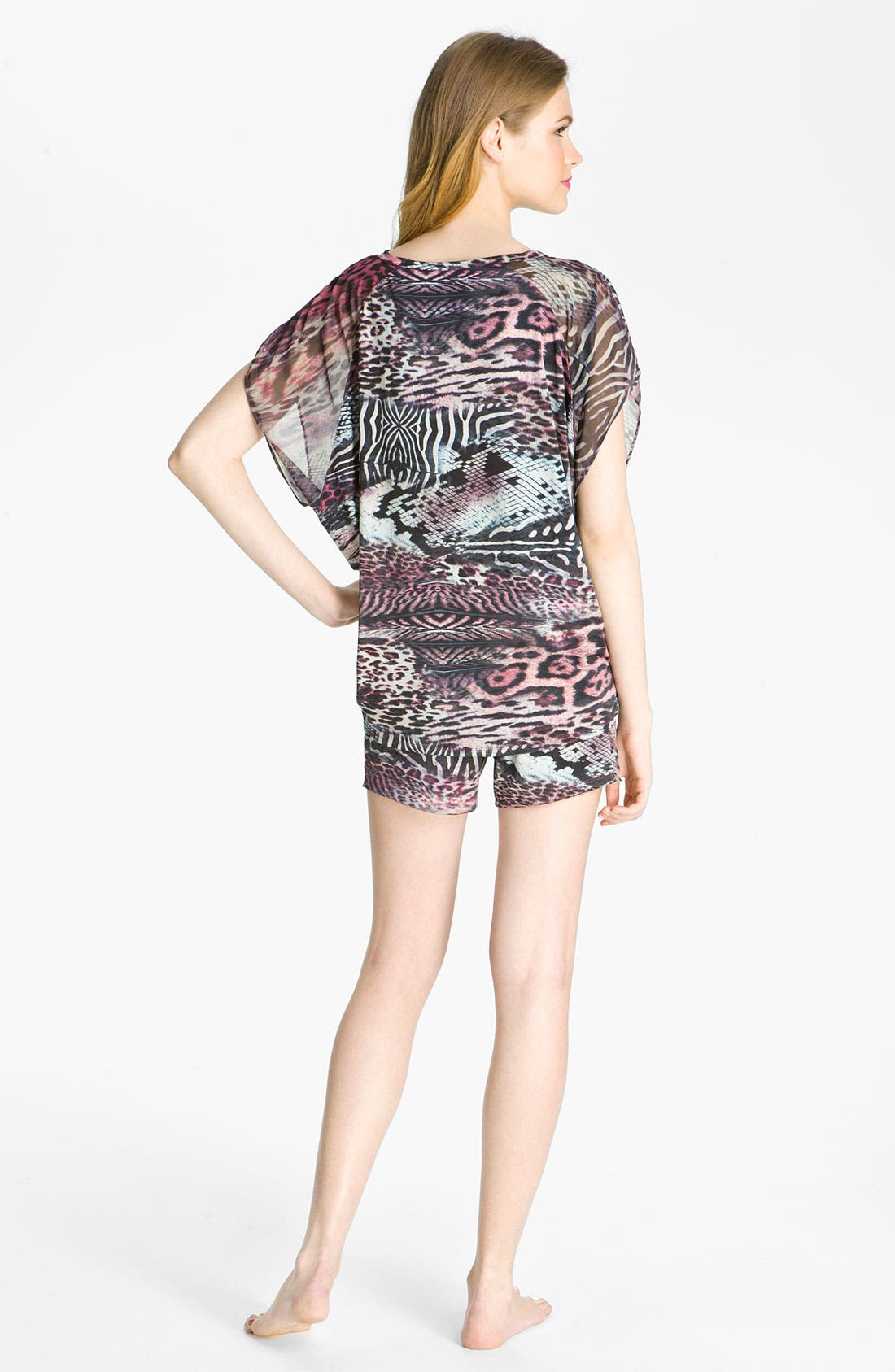 Alternate Image 5  - Nicole Miller 'Wild Animal' Lounge Tee
