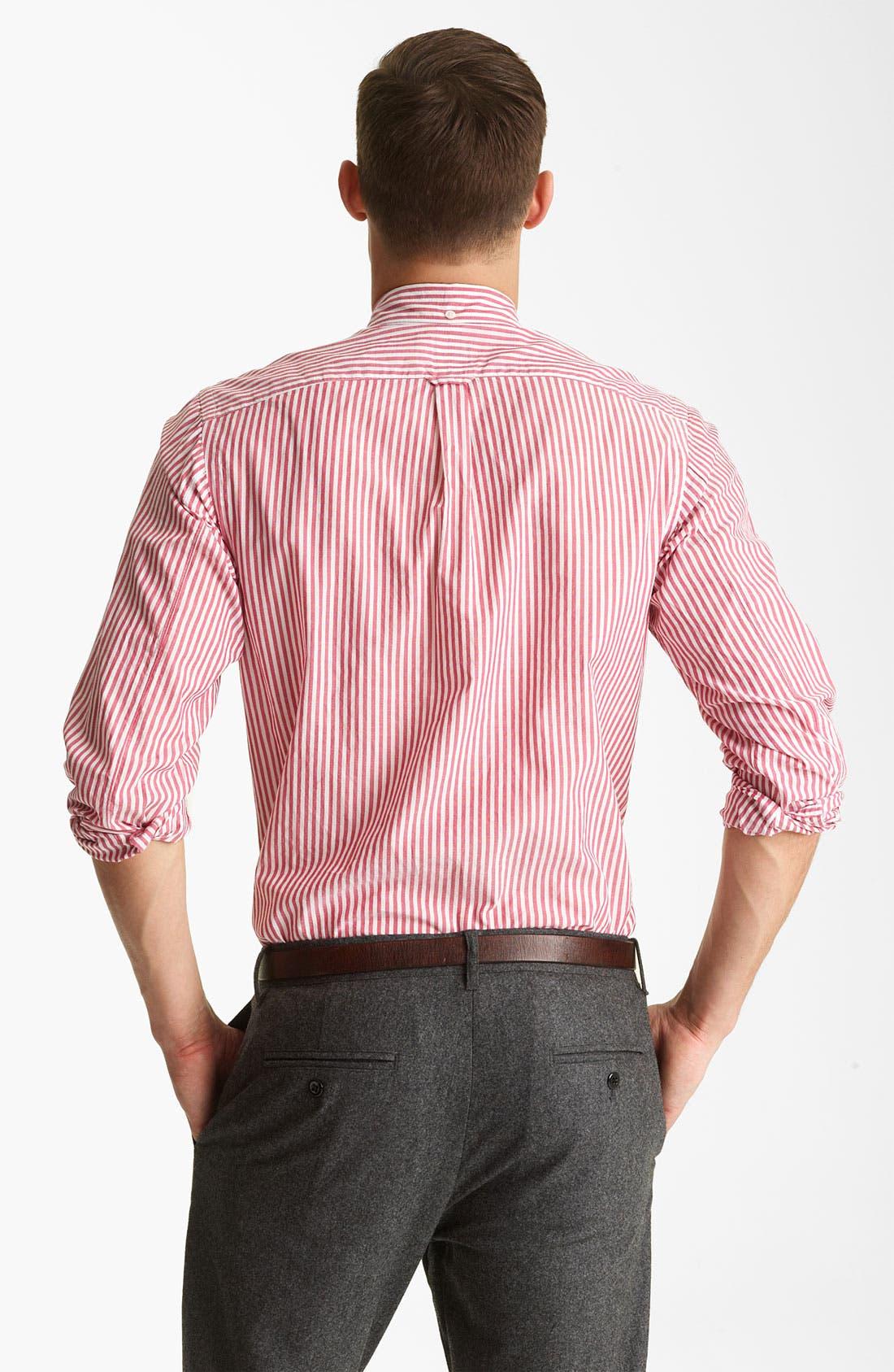 Alternate Image 2  - Todd Snyder Stripe Sport Shirt