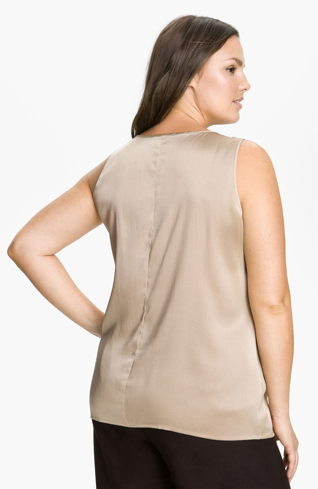 Alternate Image 2  - Eileen Fisher Stretch Silk Tank (Plus)