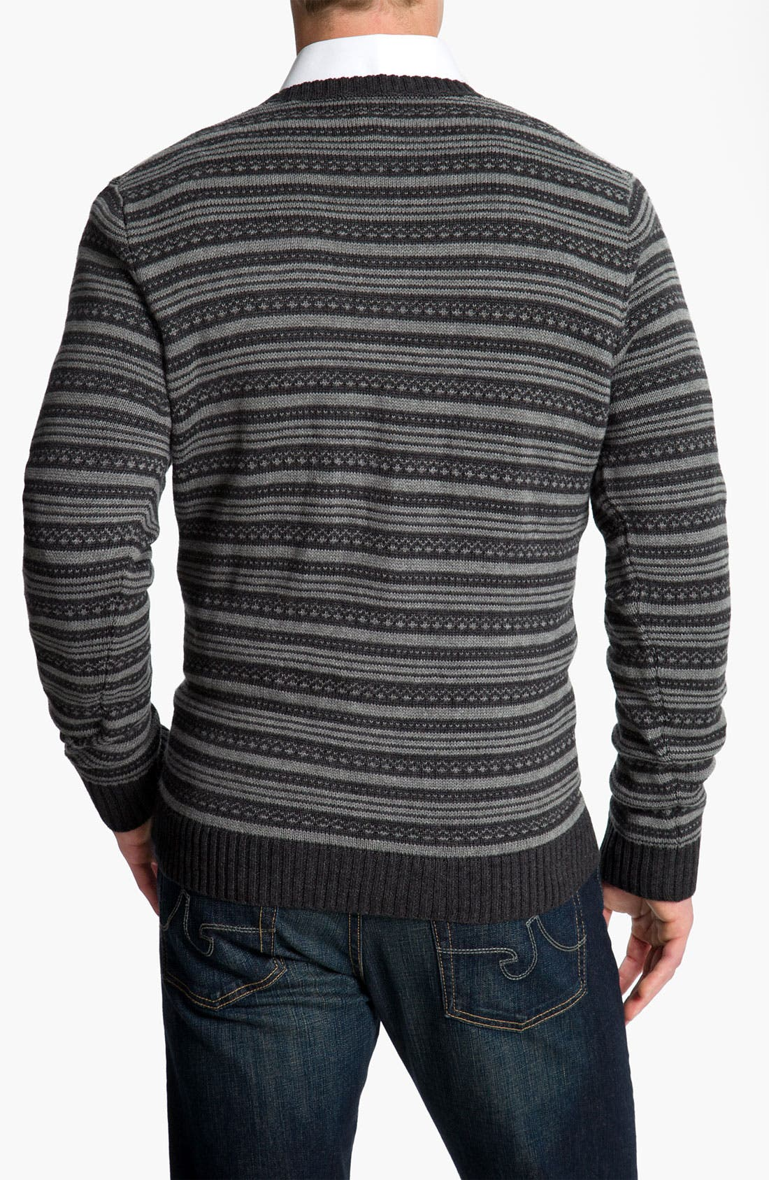 Alternate Image 2  - Wallin & Bros. Fair Isle Cotton & Cashmere Sweater