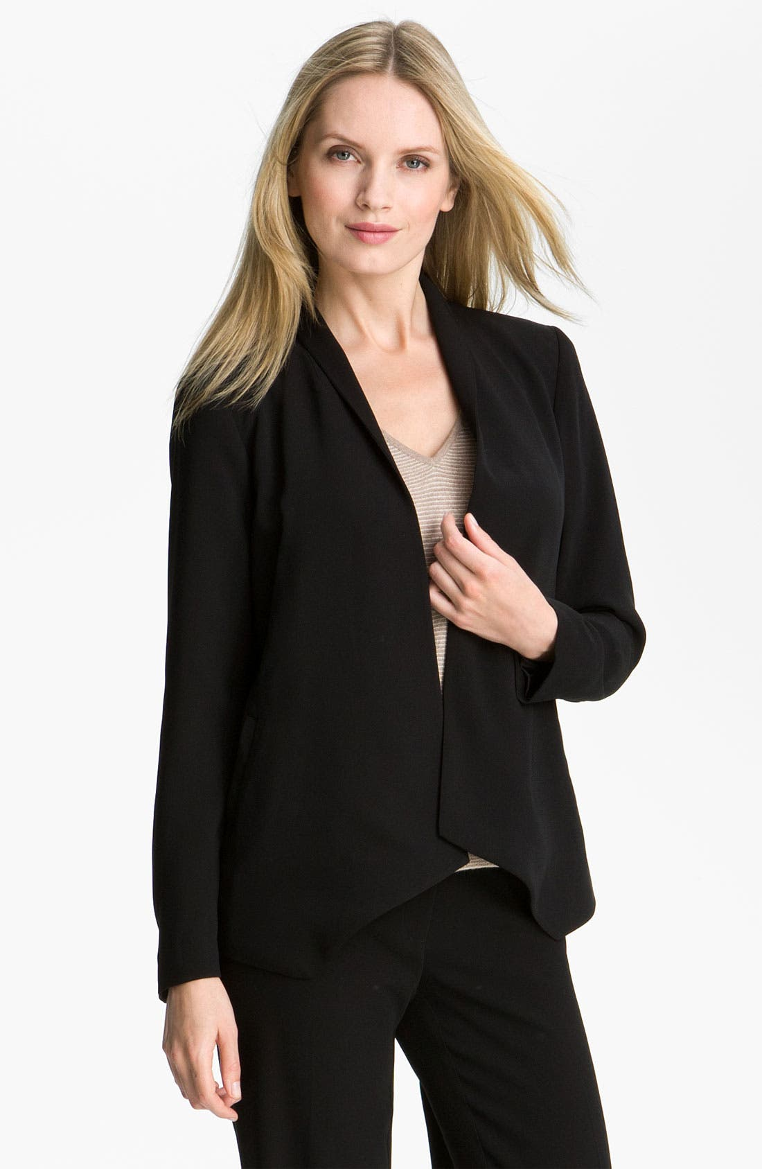 Main Image - Eileen Fisher Open Front Tropical Weight Jacket