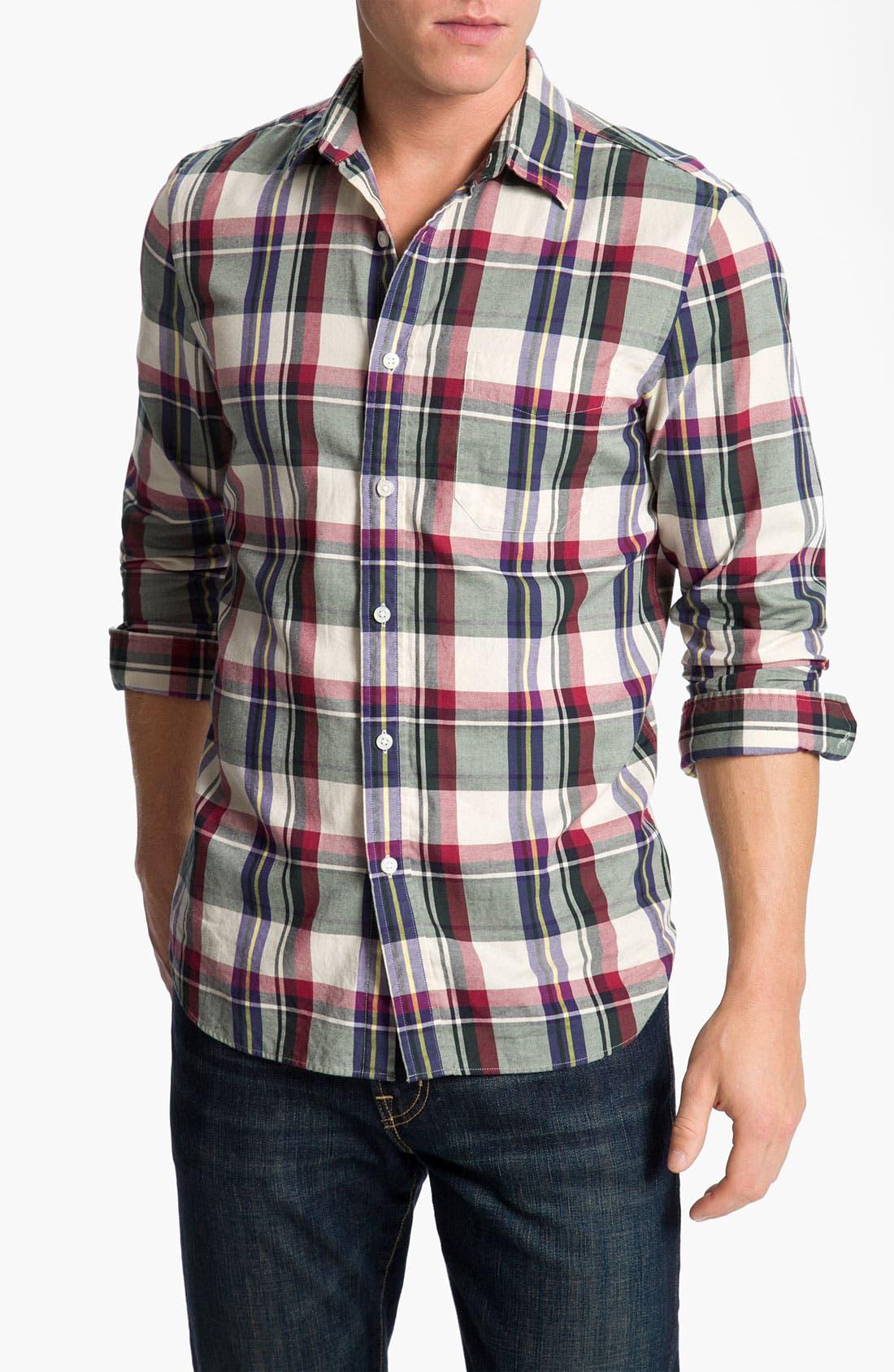 Alternate Image 1 Selected - Wallin & Bros. Plaid Sport Shirt
