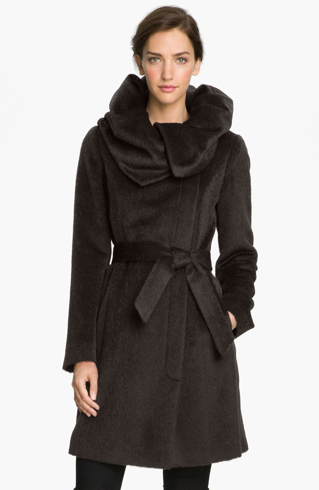 Alternate Image 1 Selected - Cole Haan Tuck Collar Wrap Coat
