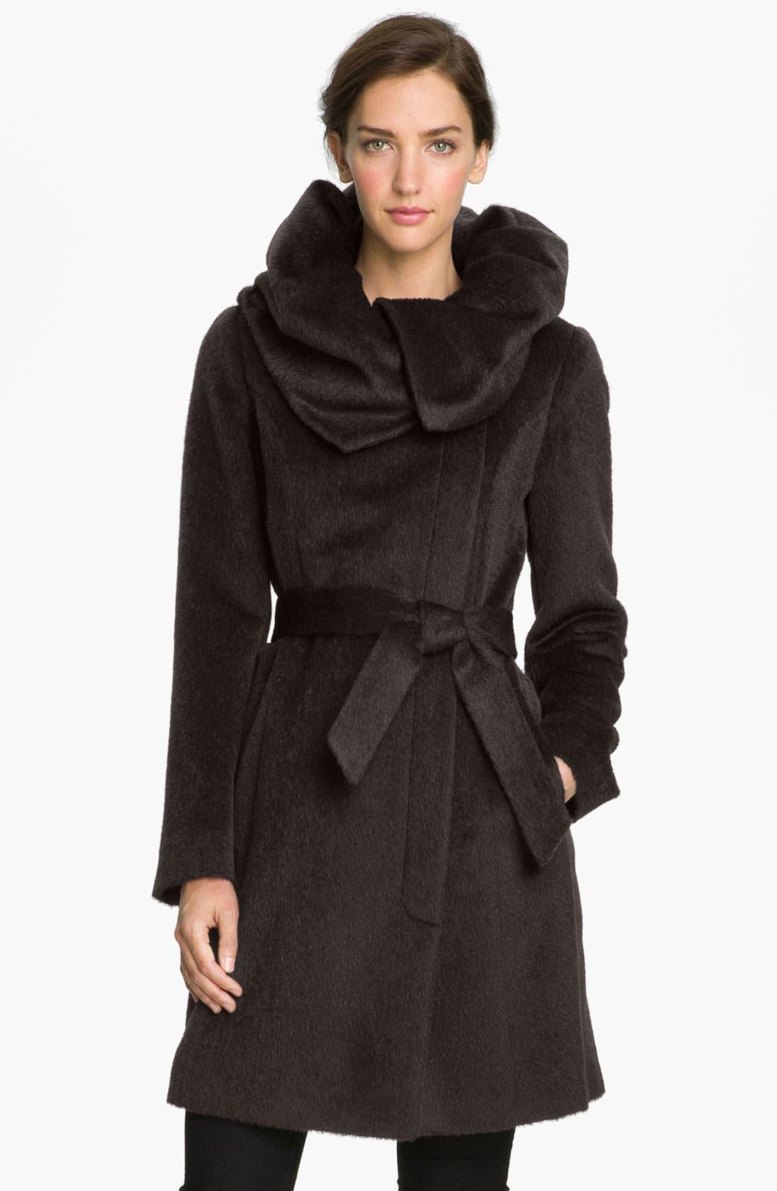 Main Image - Cole Haan Tuck Collar Wrap Coat
