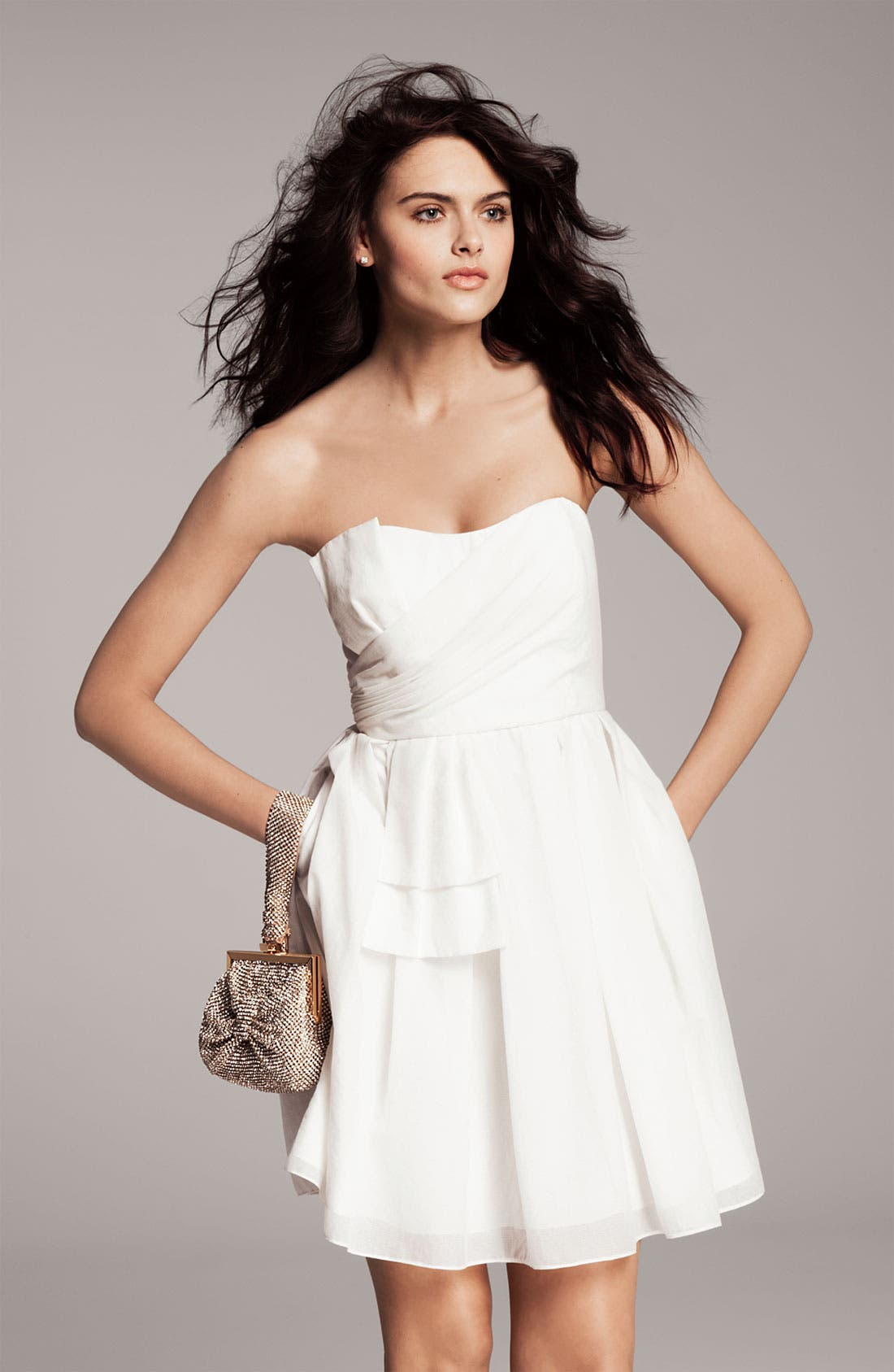 Alternate Image 4  - Jill Jill Stuart Sweetheart Neckline Bow Detail Dress