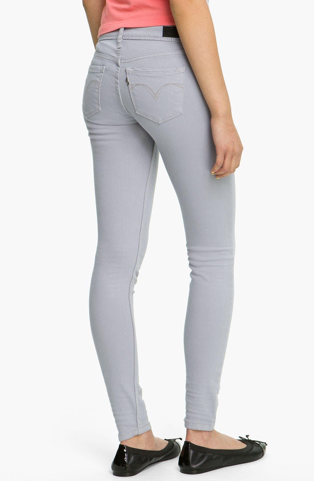 Main Image - Levi's® Overdyed Denim Leggings (Purple Sage)