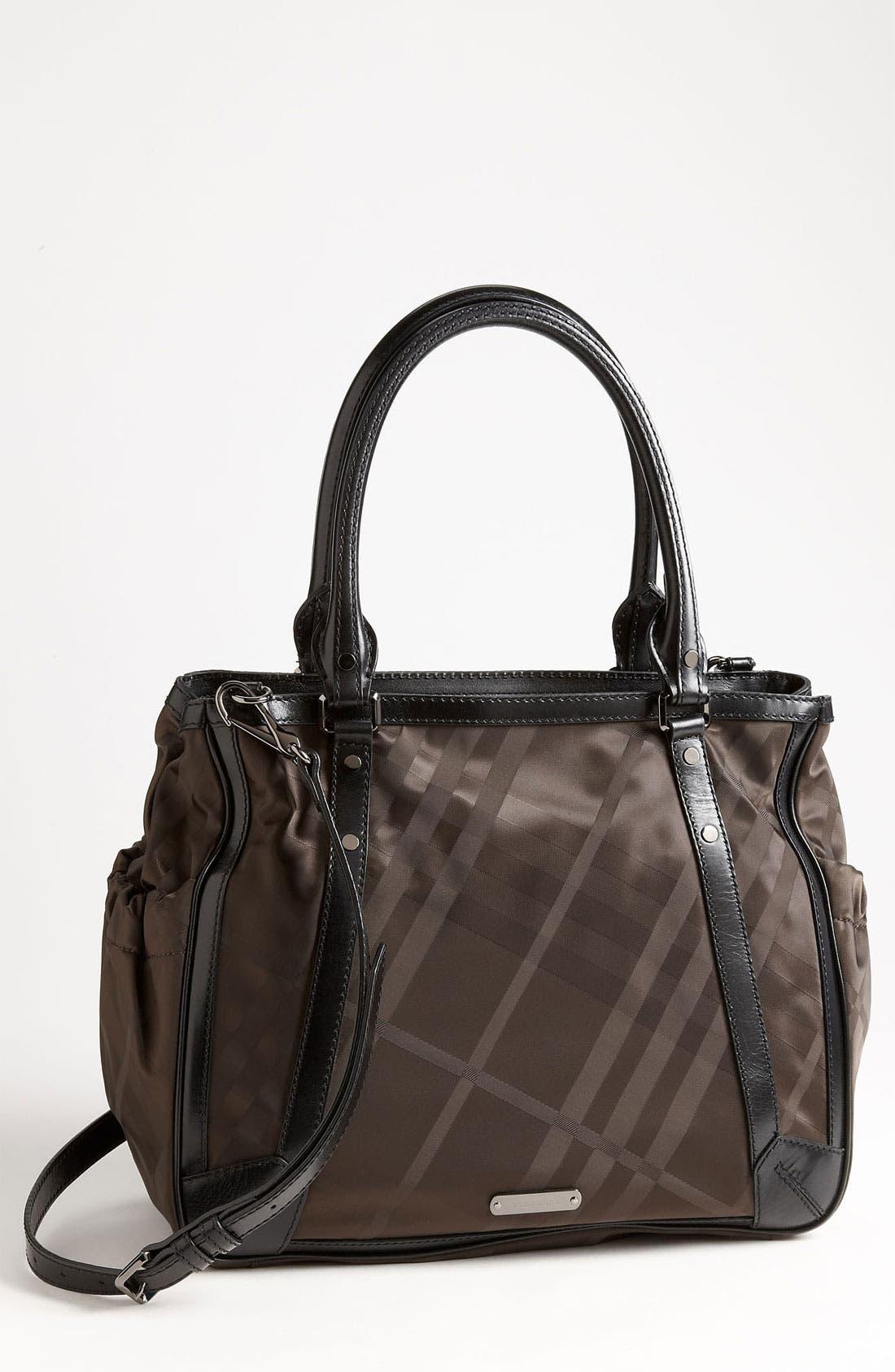 Alternate Image 1 Selected - Burberry Check Print Diaper Bag