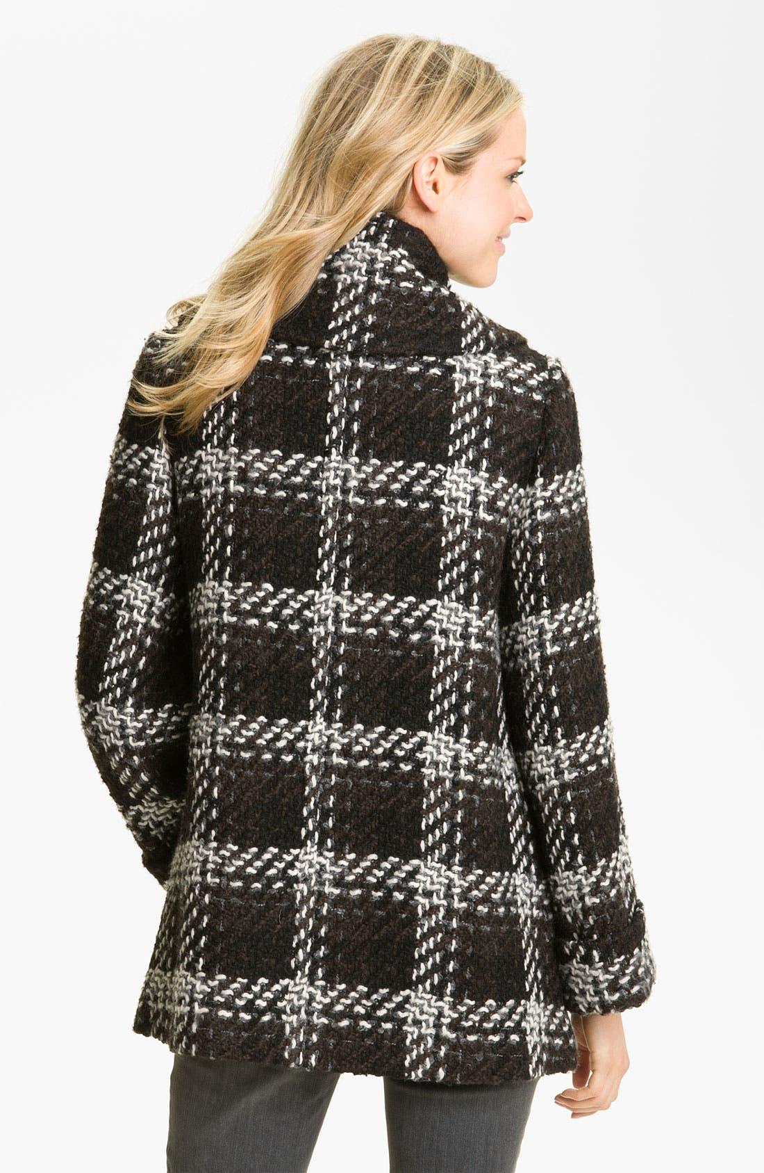 Alternate Image 2  - 1 Madison Wing Collar Plaid Coat