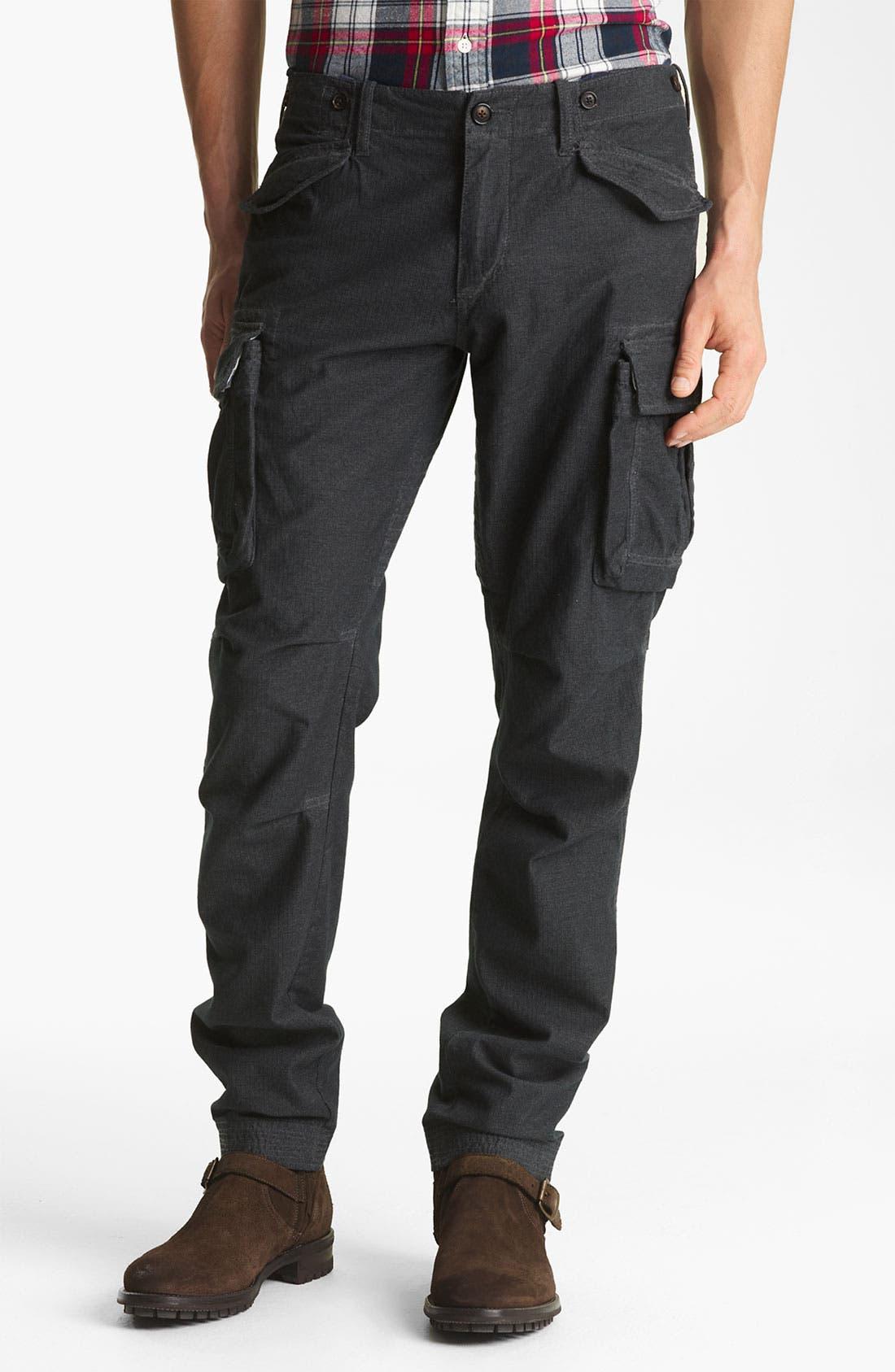 Main Image - Gant by Michael Bastian Slim Fit Herringbone Cargo Pants