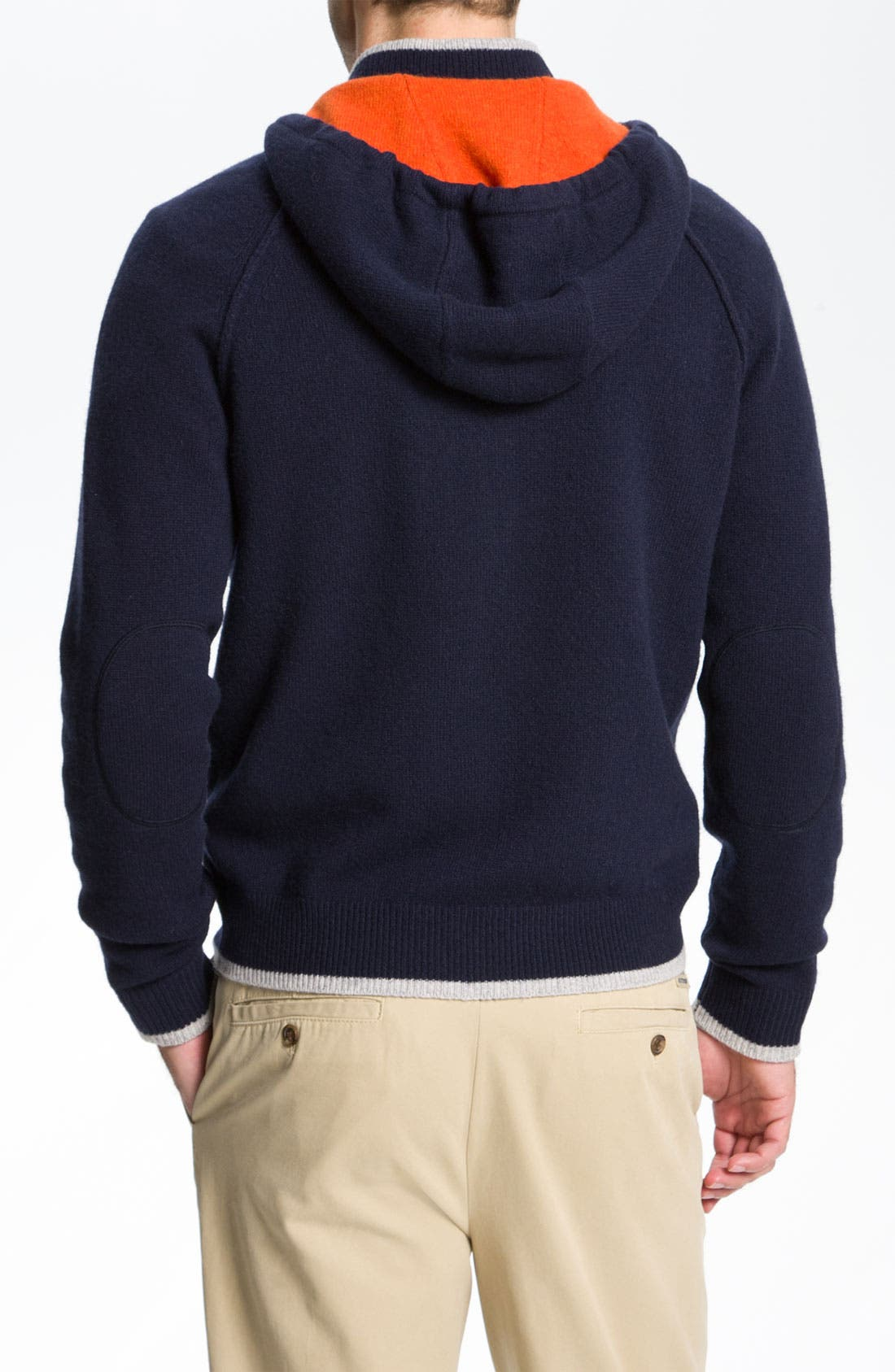 Alternate Image 2  - Brooks Brothers Lambswool Hoodie