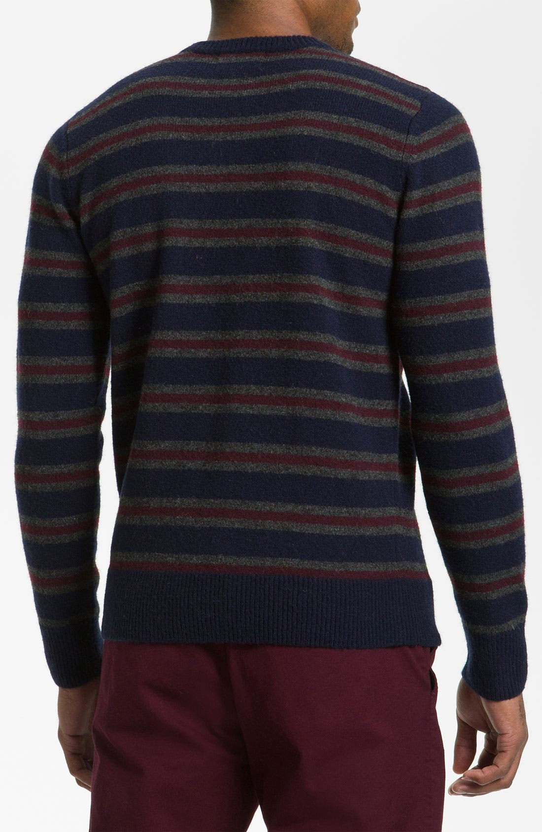 Alternate Image 2  - Fred Perry Stripe Boiled Lambswool Sweater