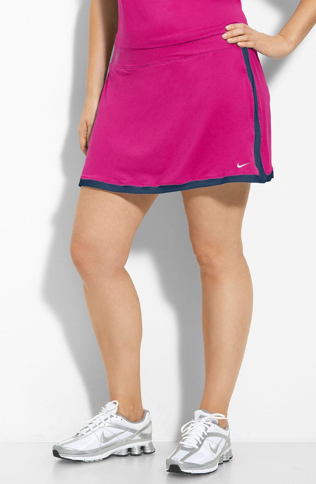 Alternate Image 1 Selected - Nike 'Border' Dri-FIT Tennis Skirt (Plus)
