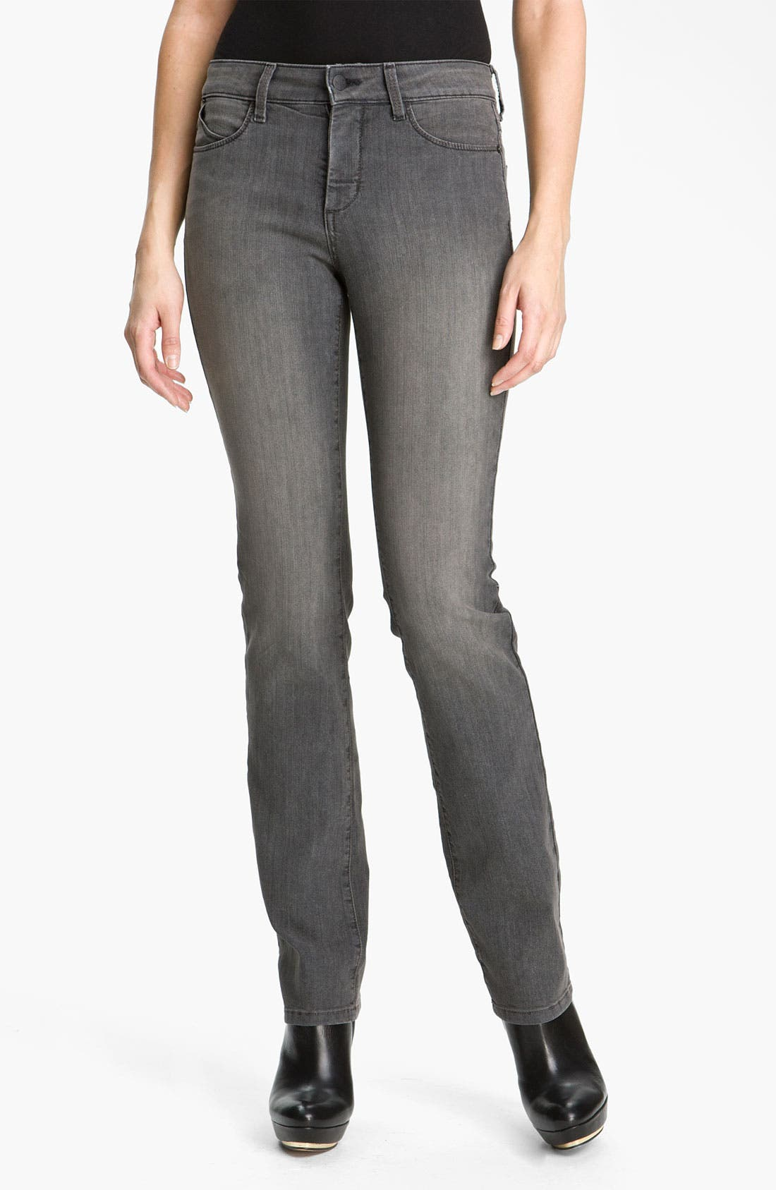 Alternate Image 1 Selected - NYDJ 'Marilyn' Straight Stretch Jeans (Petite)