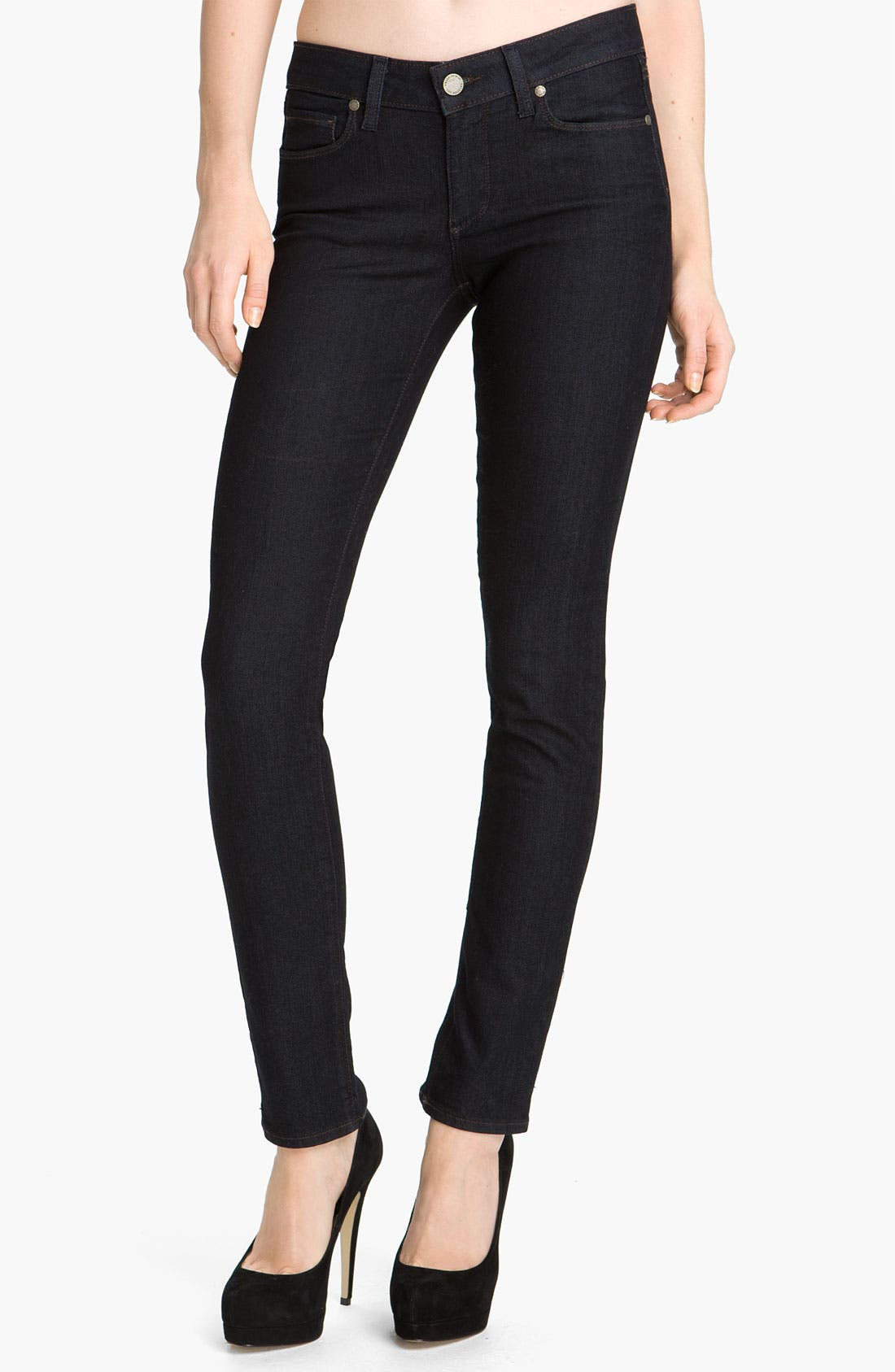 Alternate Image 1 Selected - Paige Denim 'Skyline 12' Skinny Stretch Jeans (Twilight)