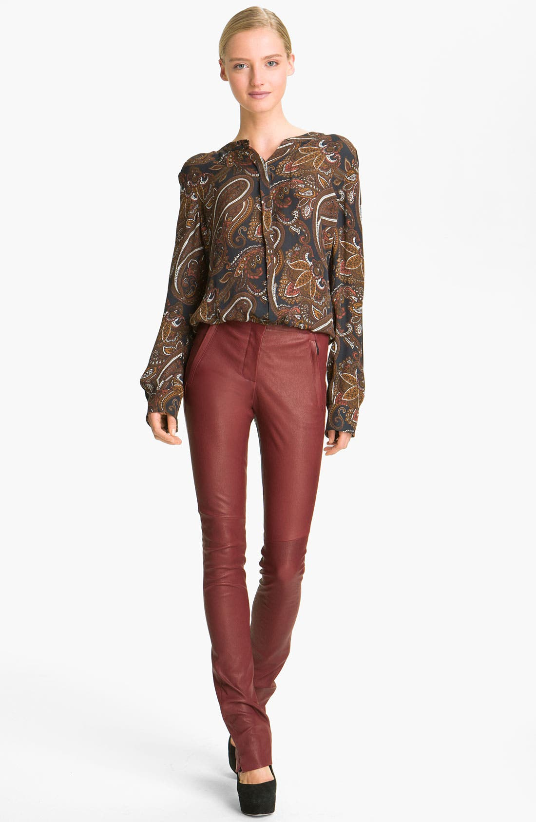 Alternate Image 1 Selected - A.L.C. 'Carly' Paisley Print Silk Blouse