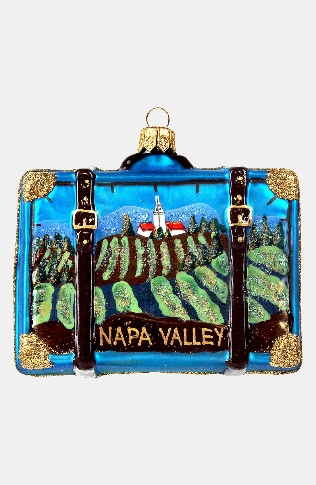 Main Image - Nordstrom at Home 'Napa Valley' Glass Suitcase Ornament