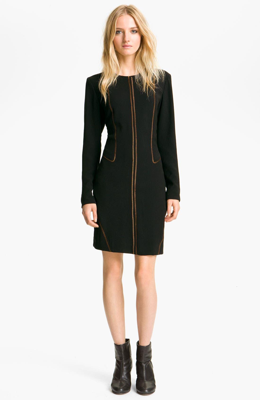 Alternate Image 1 Selected - rag & bone 'Raj' Metallic Seam Dress