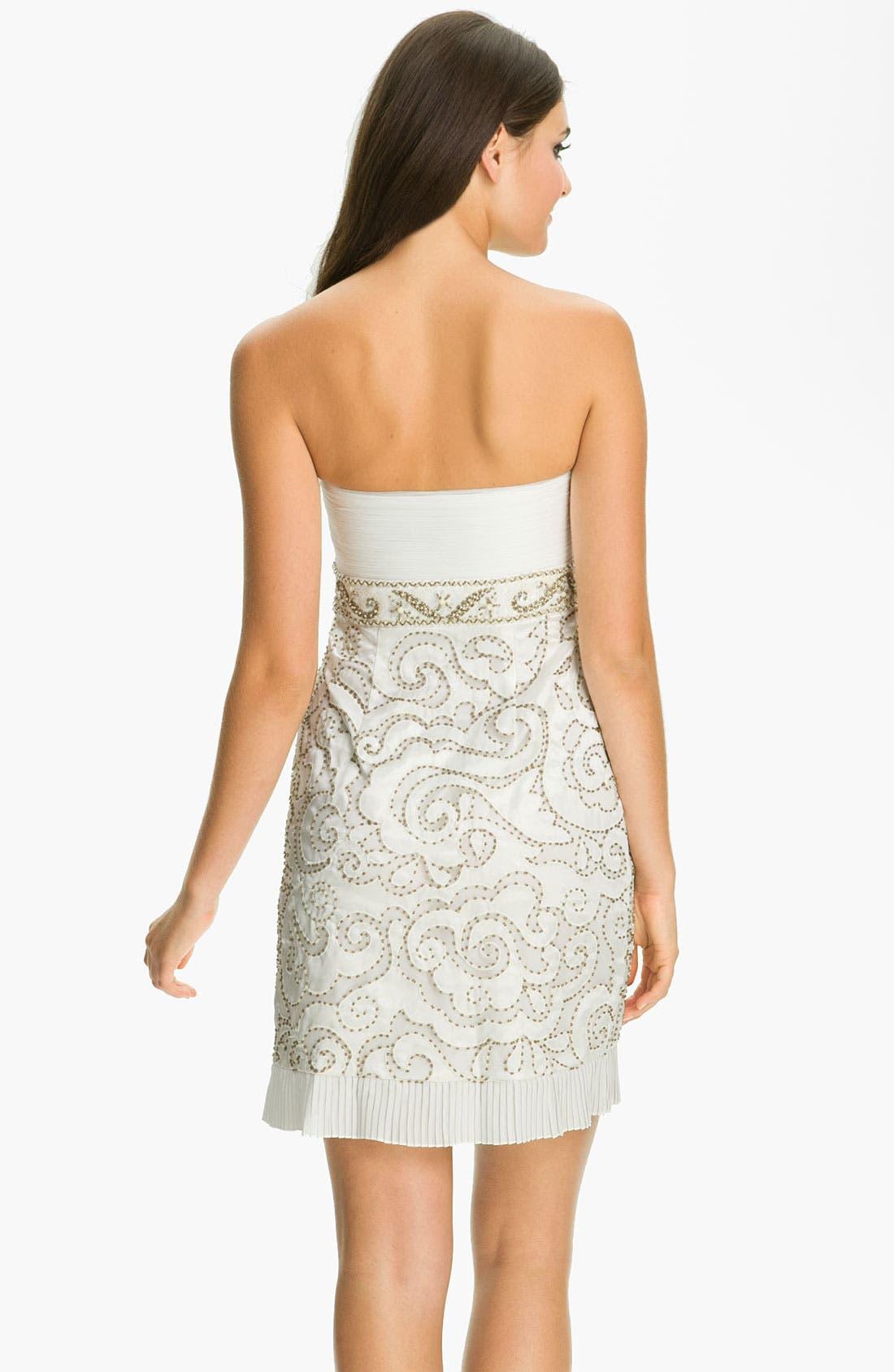 Embellished Sweetheart Sheath Dress,                             Alternate thumbnail 2, color,                             White