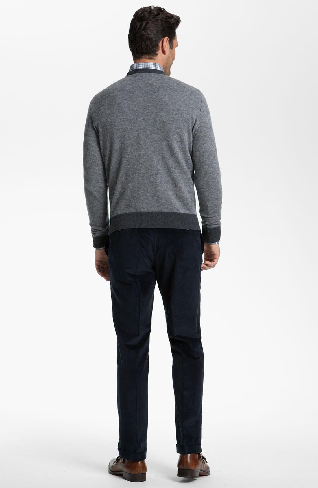 Alternate Image 2  - Canali V-Neck Wool Sweater