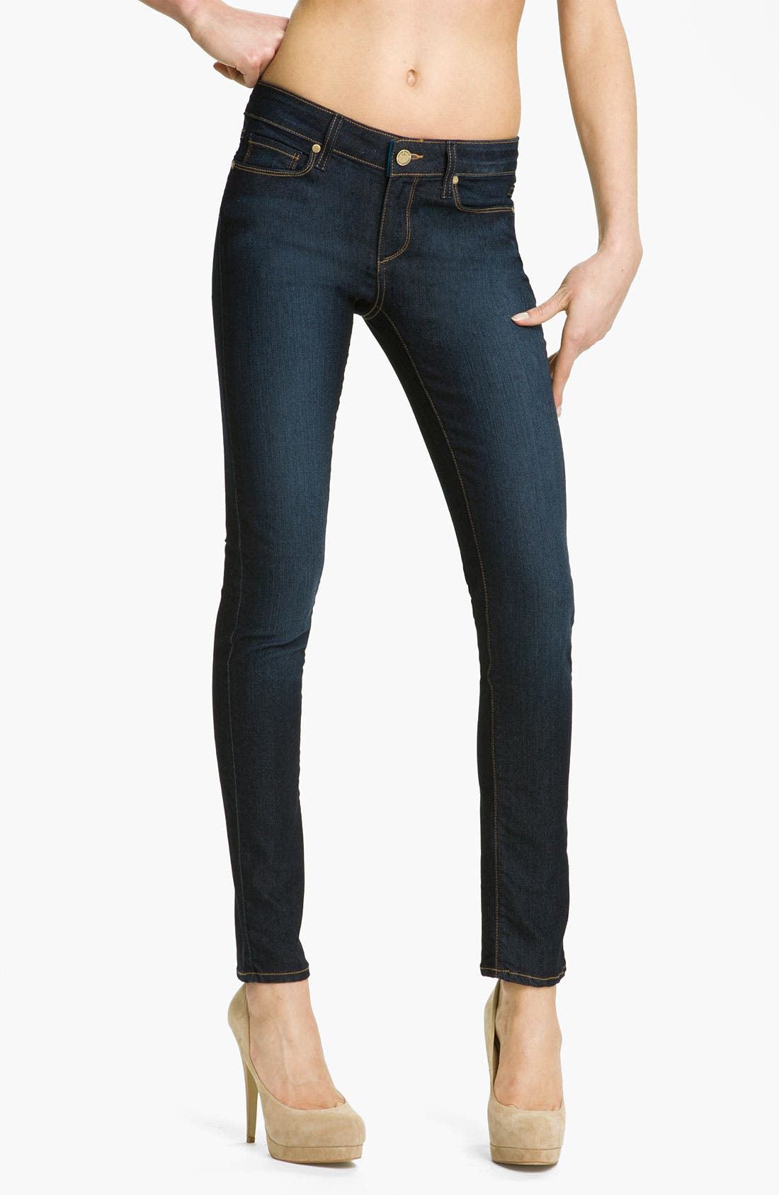Main Image - Paige Denim 'Skyline' Stretch Skinny Jeans (Carson Wash)