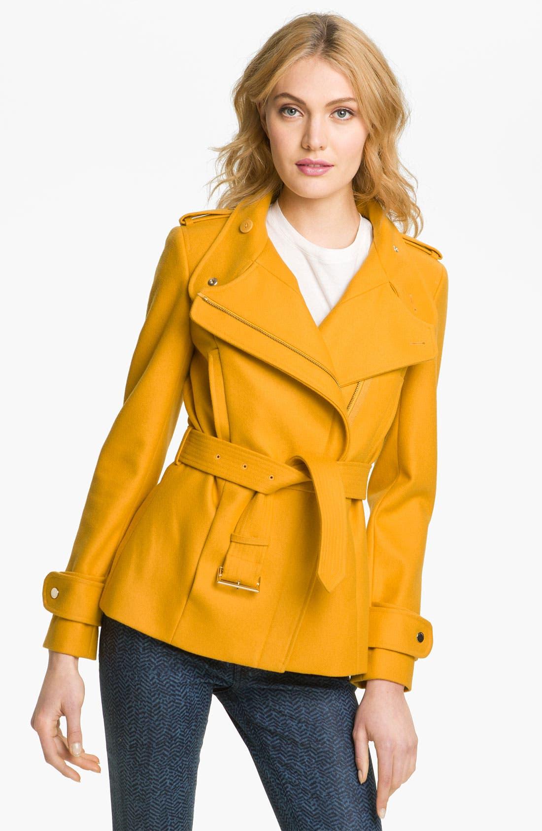 Main Image - Ted Baker London Funnel Neck Wool Blend Jacket