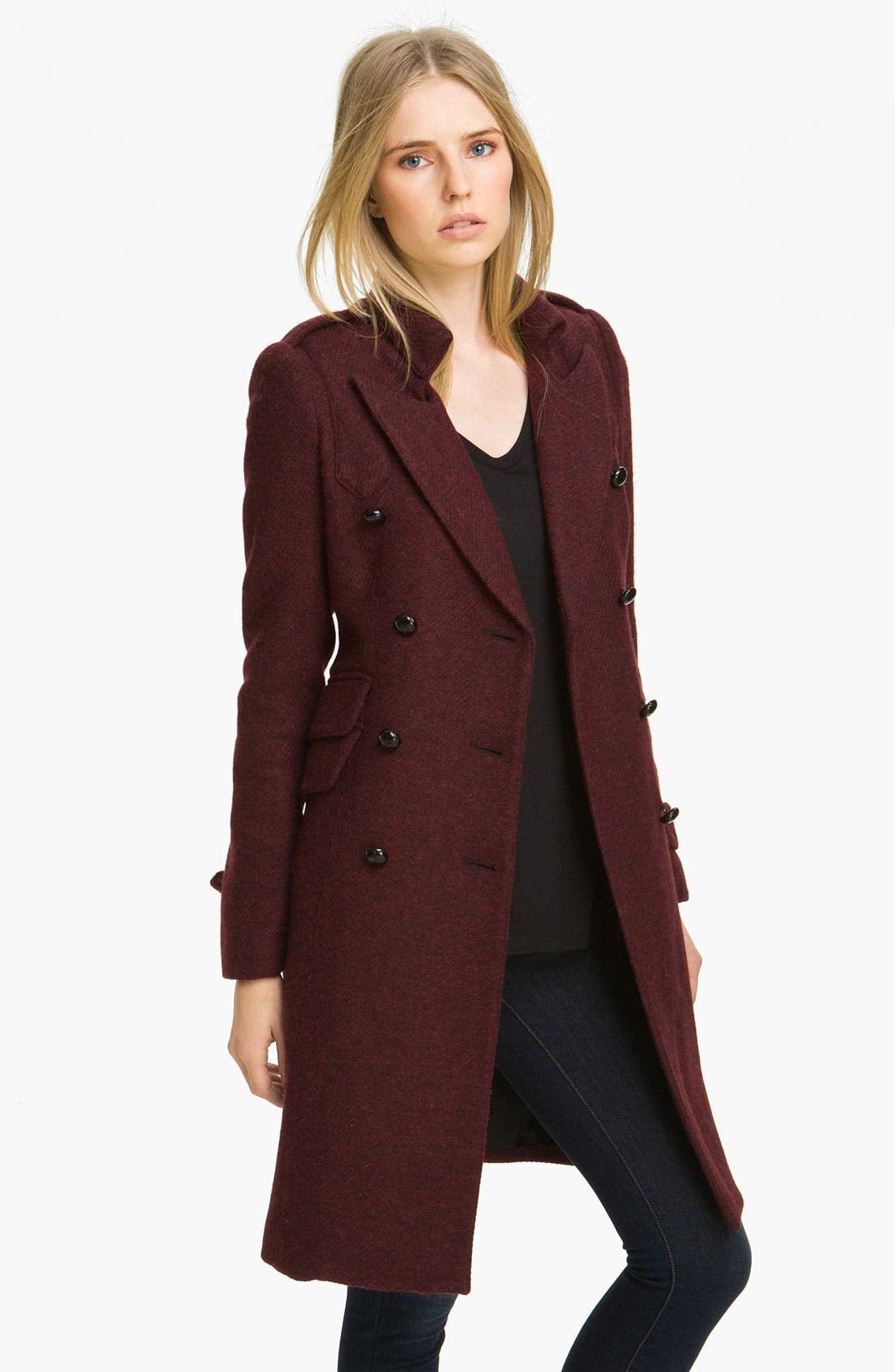 Alternate Image 1 Selected - Smythe Double Breasted Wool Blend Coat