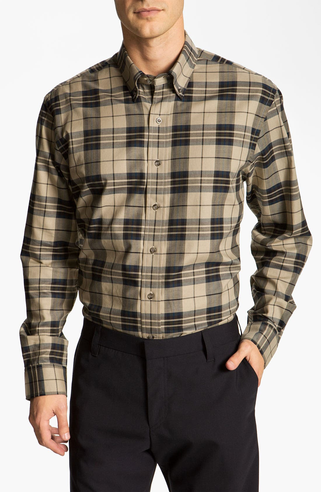 Alternate Image 1 Selected - Cutter & Buck 'Malden' Plaid Sport Shirt (Online Only)