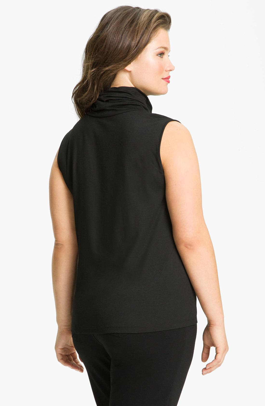 Alternate Image 2  - Lafayette 148 New York 'Nouveau' Sleeveless Turtleneck Top (Plus)