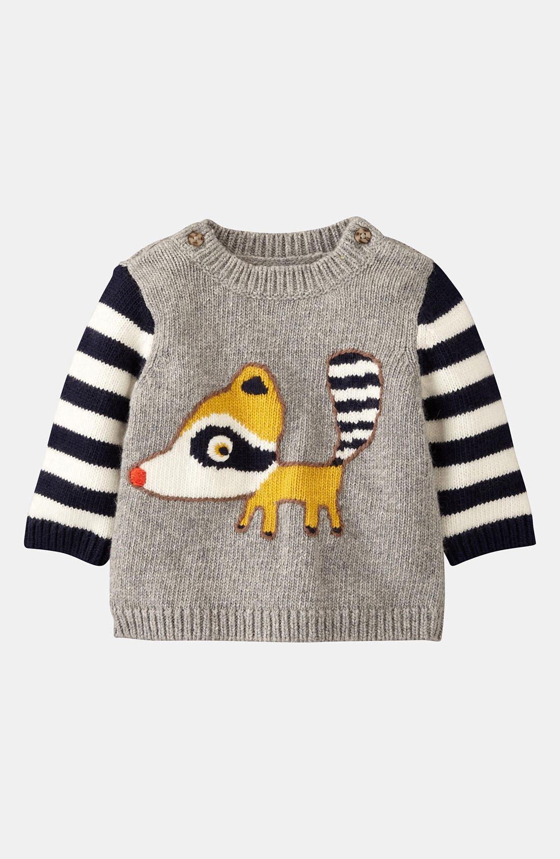 Alternate Image 1 Selected - Mini Boden 'Logo' Sweater (Infant)