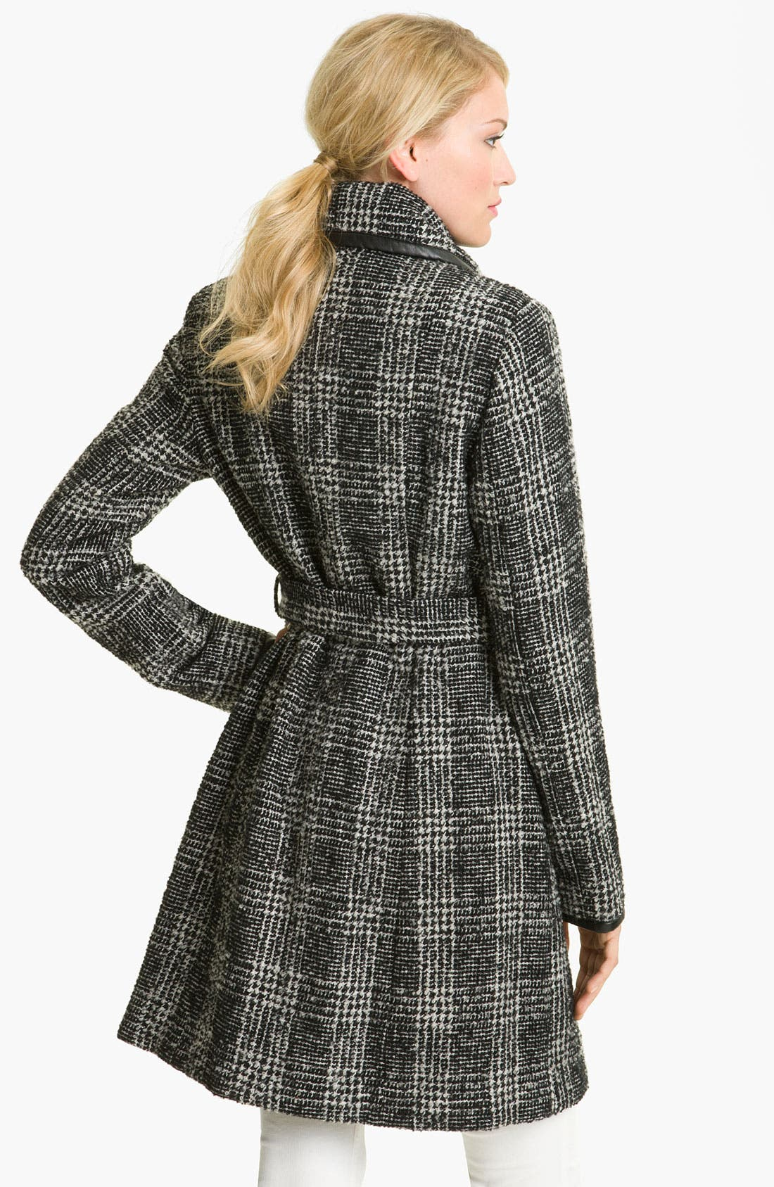 Alternate Image 2  - Vince Camuto Plaid Wrap Coat