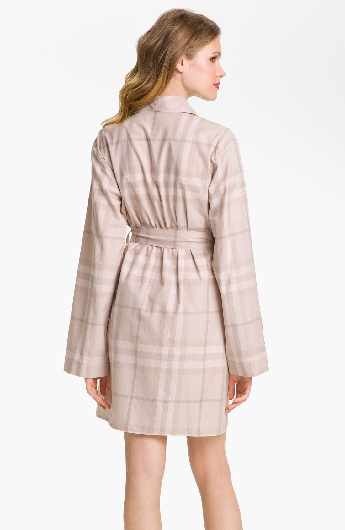 Alternate Image 2  - Burberry Check Robe