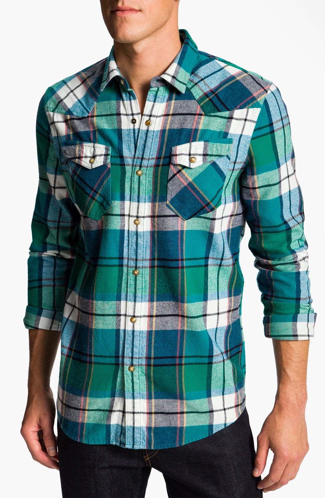 Alternate Image 1 Selected - The Rail by Public Opinion Cotton Flannel Shirt