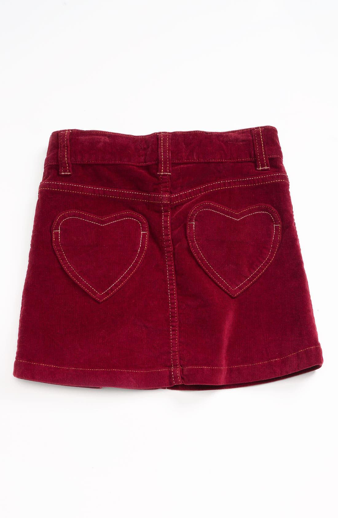 Alternate Image 2  - Mini Boden Heart Pocket Jean Skirt (Toddler)