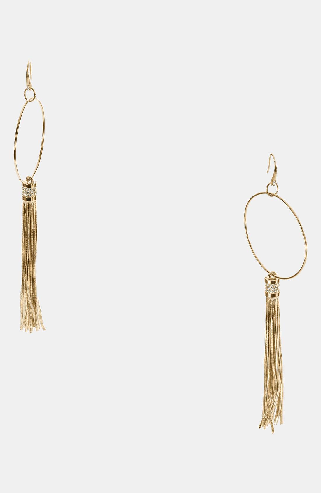 Alternate Image 1 Selected - Michael Kors 'Equestrian Luxury' Linear Earrings