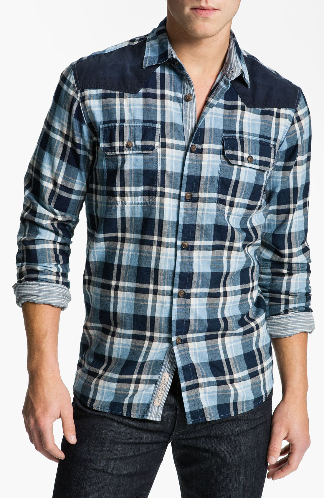 Alternate Image 1 Selected - Just A Cheap Shirt Long Sleeve Woven Shirt