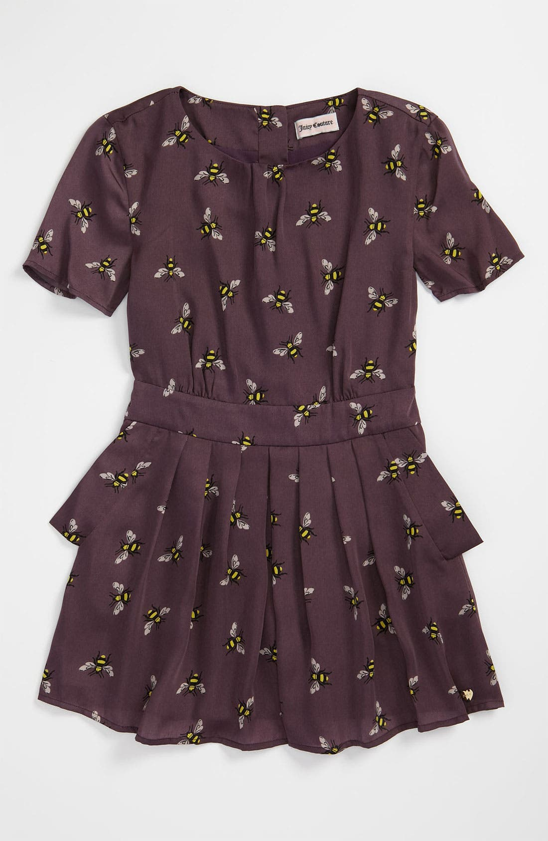 Alternate Image 1 Selected - Juicy Couture 'Bumble Bee' Charmeuse Dress (Little Girls & Big Girls)