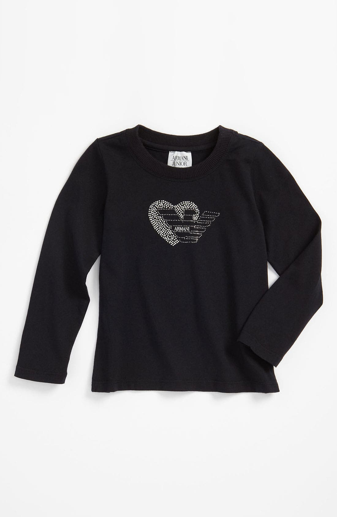 Main Image - Armani Junior Studded Heart Logo Tee (Toddler)